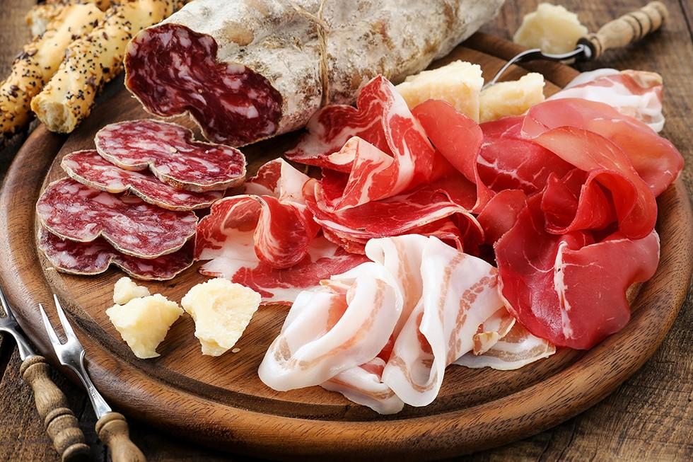 cured meats and lardo