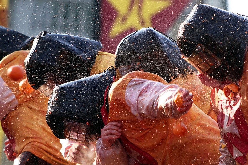 orange's battle in Piedmont, Italy - Carnival