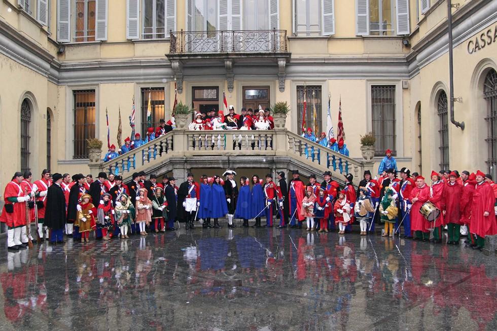 historical Ivrea Carnival - Italy