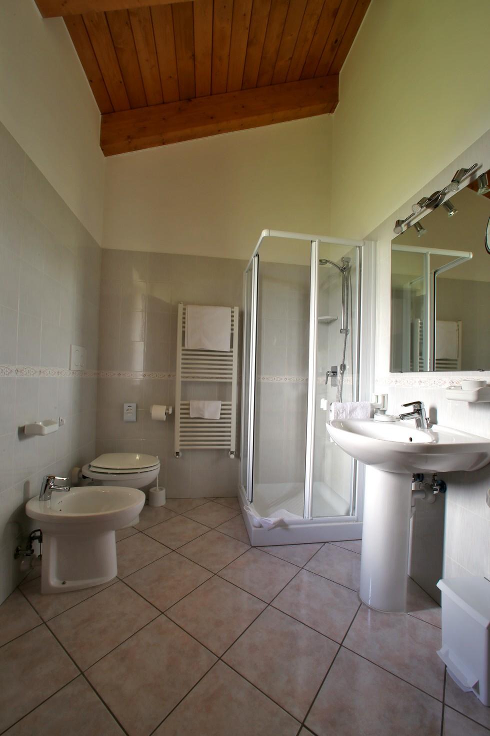 Bagno con doccia in appartamento vacanze
